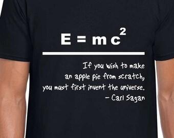 E=mc2 science art t shirt
