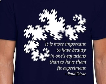 Dragon Curve and Dirac science t-shirt