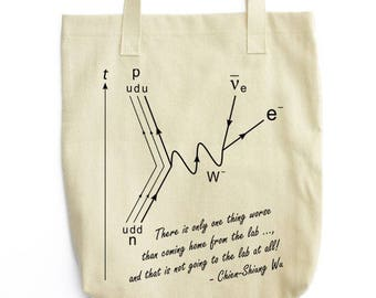 Chien-Shiung Wu Quote science tote bag