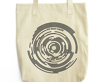Hilbert's Star Trails science tote bag