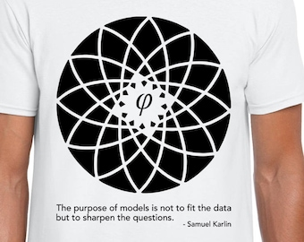 Karlin and Fibonacci Flower art t shirt