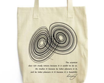 A Strange Attractor science art tote bag