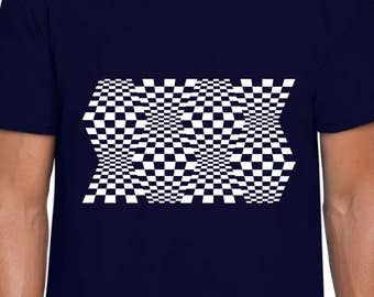 Space Warps Optical Illusion tshirt