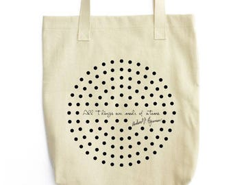 All Things are Made of Atoms tote bag