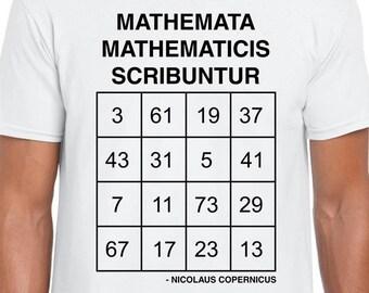 Copernicus Prime Magic math art t-shirt