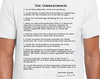 The Ten Commandments teacher gift tshirt