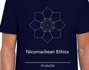 Nichomachean Ethics origami art t-shirt