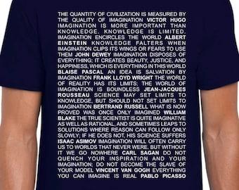 On Imagination Quotes art t shirt