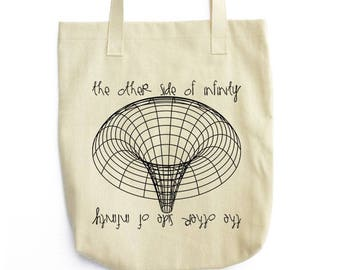 Black Hole science art shoulder tote bag