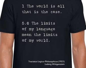 Wittgenstein Philosophy art t shirt