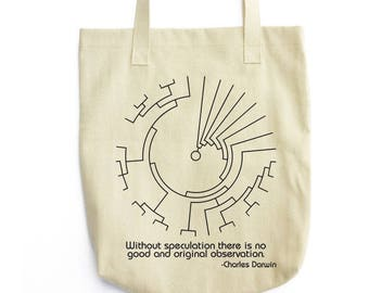 Darwin and Phylogenetic Tree tote bag