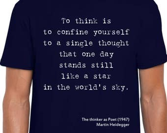 The Thinker as Poet quote art t shirt