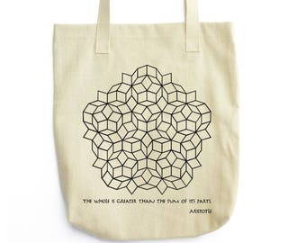 Penrose Tilling and Aristotle tote bag