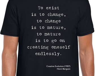 Creative Evolution philosophy t-shirt