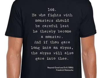 Beyond Good and Evil quote art t shirt