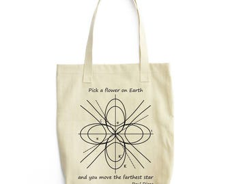 A Differential Geometric Flower tote bag