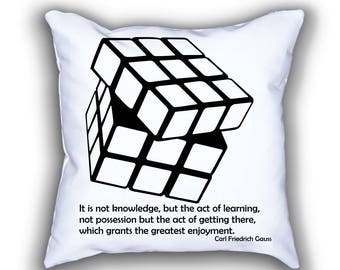 Gauss and Rubik's Cube throw pillows
