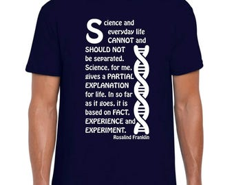 Rosalind Franklin and DNA science tee