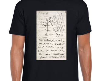 Darwin's evolutionary tree sketch tee