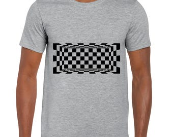 Pythagorean Space Optical Illusion tee