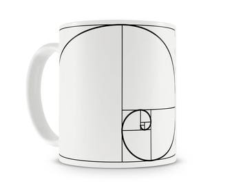 Fibonacci Spiral and Aristotle mug