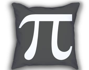 Pi Symbol mimimal math throw pillows