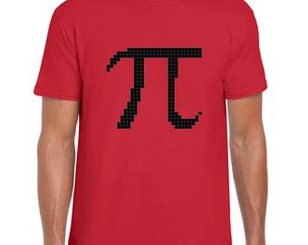 Pi math symbol pixel art t shirt