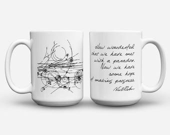 Bohr and Particles Collision mug