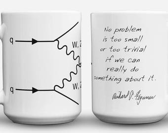 QED Feynman Diagram and Quote Mug
