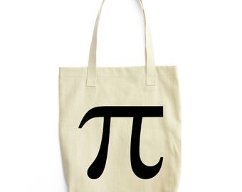 Pi symbol minimal canvas shoulder bag