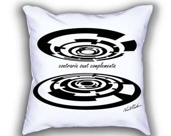 Bohr's Opposites Geometric Art pillows