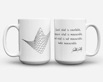 Galileo and Waveform mug with sayings
