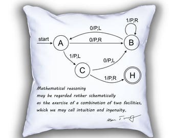 Turing Machine science throw pillows