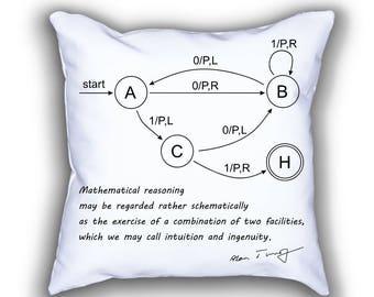 Turing Machine science throw pillows
