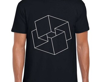 Mobius Square Illusion art t shirt