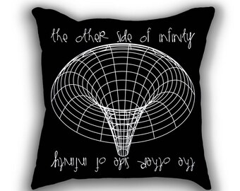 Black Hole science art throw pillows