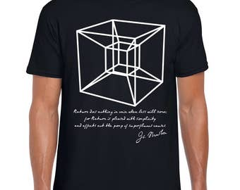 Newton's Hypercube science art t shirt