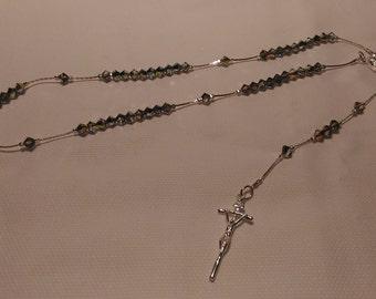 b8aba7dd81e Rosario handmade in argento 925 e swarovski bicono 4 mm