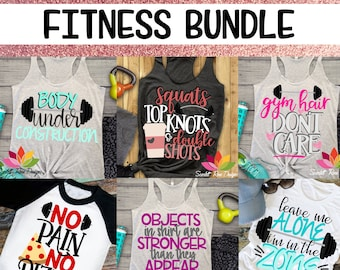 Workout SVG, Fitness Bundle Pack, Workout Shirt, Gym Shirt svg, Funny, Gym Hair SVG, Top Knots, Design, Cut file, Silhouette Cameo, Cricut