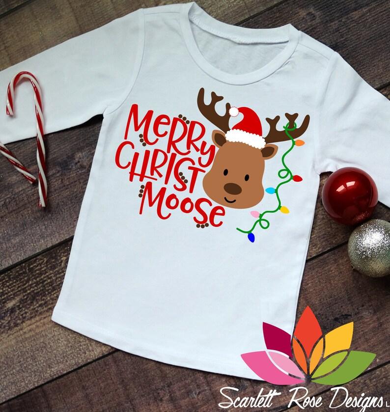 53149fa8 Christmas SVG DXF Merry Christ Moose Santa Hat Christmas | Etsy