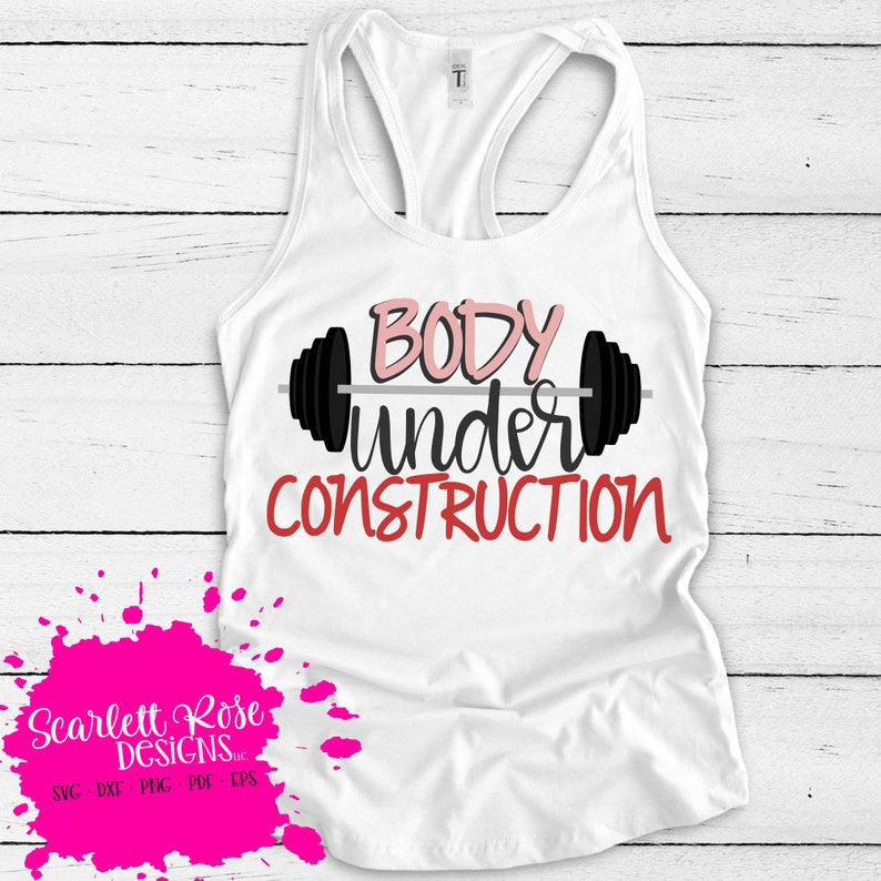 Workout SVG Fitness SVG DXF Body under Construction image 0