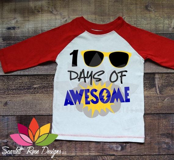 76cbee4029b 100 Days of School SVG, 100th day, 100 Days of Awesome, Cool Boy, school  shirt, Kid shirt, cut file, design, silhouette cameo, cricut