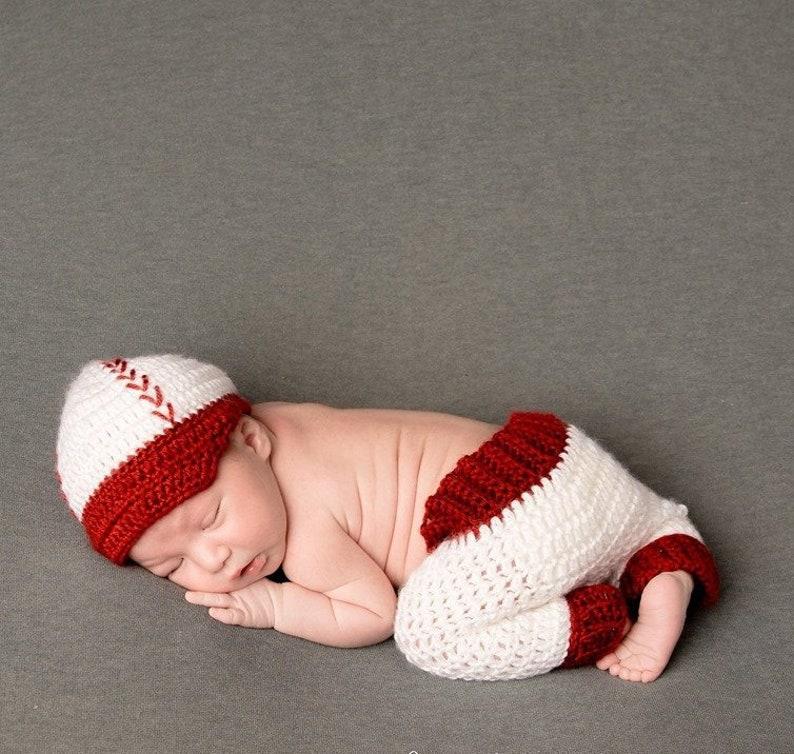 53865f36d5be7 Crochet Baseball hat   pants  Diaper Baby Baseball outfit