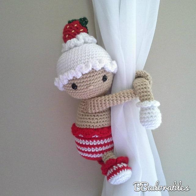 Weihnachten Kuchen Puppe Vorhang Raffhalter häkeln Muster | Etsy