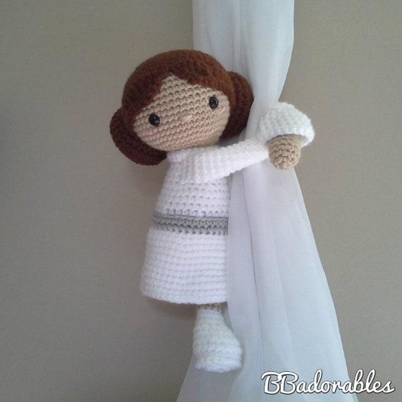 Prinzessin Leia Leia Vorhang Raffhalter Häkelmuster rechts | Etsy