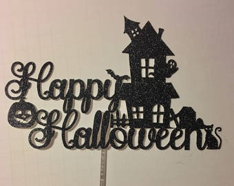 Happy Halloween Cake Topper, Halloween Party, Halloween costumes, October, Party Decor, Halloween, Cake Topper, Haunted House, Topper
