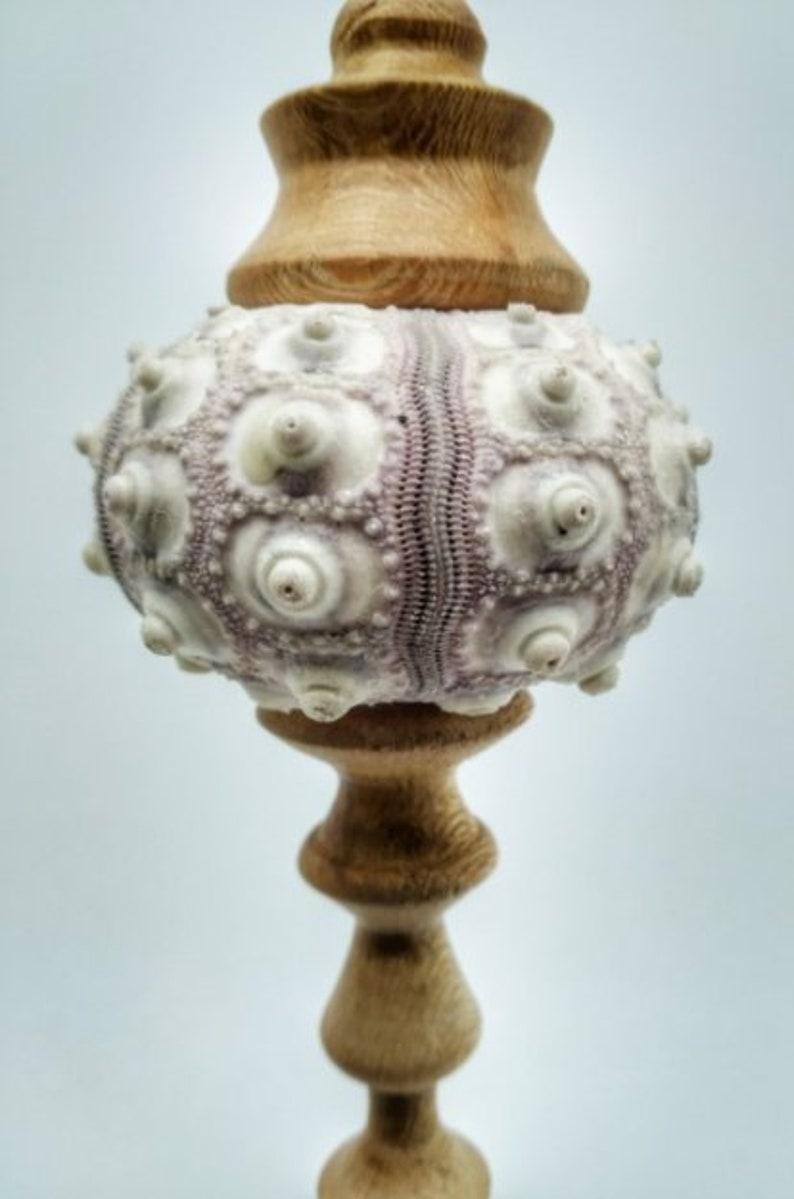 decorative Christmas ornament Sea Urchin Ornament hand Made turned wood OOAK