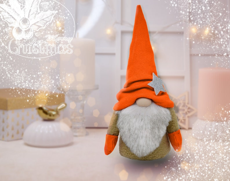 Sewing kit Christmas Gnome Toy 9,8 Handmade Norwegian Gnome Christmas Decor Santa New year Interior toy Christmas 9 color options