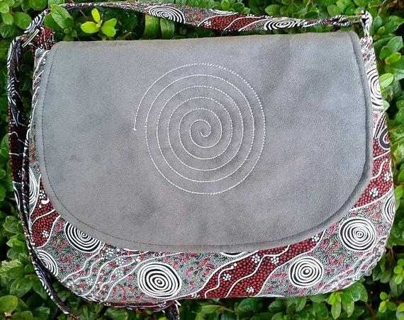 Aussie Shoulder Bag - Cross Body Bag -- Australian Design Fabric - Gift for Her - Ladies Gift - Fabric Bag
