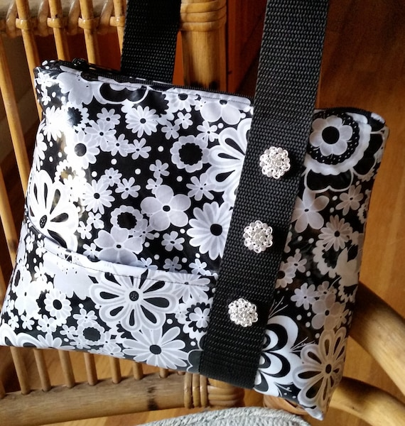 Rainy Day Bag - Laminated Bag - Shoulder Bag - Fabric Shoulder Bag - Water Resistant Purse
